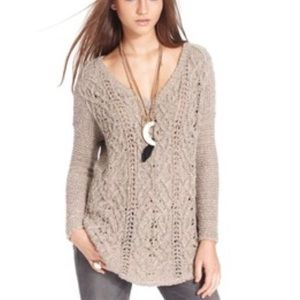 Free People Pullover Sweater Loose Knit Sz Small